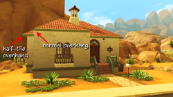 "a-s4 replied to your post ""So this new copy tool should be able to take the roof from the Agave…""i feel daft but i don't understand what this illustrates but i feel like i should know. what is it? It's an anomaly in Sims 4 roofing. :) Back in the early days of TS4, when we were lamenting the fact that the hipped roof has no overhang and looks a bit weird, @peacemaker-ic observed that the larger hipped roof on the Agave Abode house in Oasis Springs DOES have an overhang - about a half-tile wide (you can see the difference in the pic above). This doesn't appear on any other houses in the game, so it's unique to this lot. Obviously at some point the developers of the game had that roof option in the game, but got rid of it. Peacemaker then brilliantly figured out a way to use that roof, by saving Agave Abode to his library and then using it as a base lot for a build (Unnamed Brick House). But since the roof itself is one of a kind, there's no way to create a second one. And you can't save roofs to your library like you can with rooms to create copies. So if Peacemaker had wanted to, say, make another wing of the house with the same roof, he couldn't have done it.But now he can! With the new ability to copy roofs (that we got in today's patch), you can copy that unique hipped roof and use it over and over again on the same lot (as I illustrated in my post). So to use that roof, you still have to start with the Agave Abode lot, but then you can copy the roof as many times as you need to achieve the look that you want. Hope that makes sense!"
