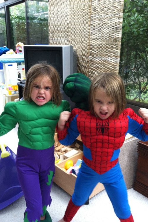 THESE GIRLS ARE AWESOME! via girlslovesuperheroes:  Kate's super cuties nieces!