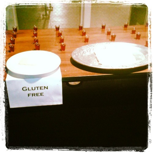 You know you're in Los Angeles when there's a Gluten-Free Communion option. Love it!
