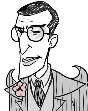 askthepuppetmaster:  (( Here's a rebloggable version of glasses!Maxwell. Eat your heart out Wilson ))