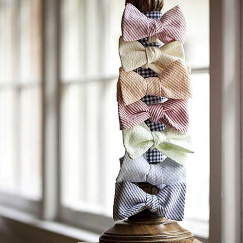 bride2be:  seersucker bow ties