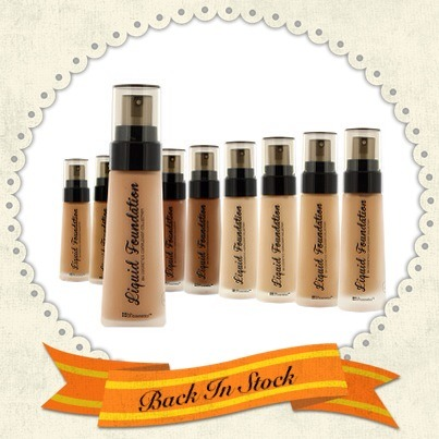 The BH Liquid Foundation is back in stock!  We've added 2 new shades to extend the range of colors to suit more skin tones.  Shop now: http://bit.ly/12hVGLP