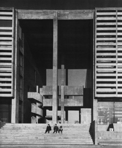 fuckyeahbrutalism:  Town Hall & Cultural Center, Koto District, Tokyo, Japan, 1965 (Takeo Sato & Associates)