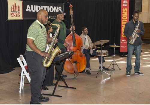 In case you missed the 2013 MUNY auditions yesterday, here are some photos of the fantastic event! For its 26th year, the auditions brought in some incredibly talented performers. Out of the 70 musicians who auditioned, about 20 will be added to the 2014 MUNY roster. Stay tuned!