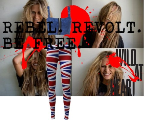 REBEL by sapphireroses featuring patterned leggings