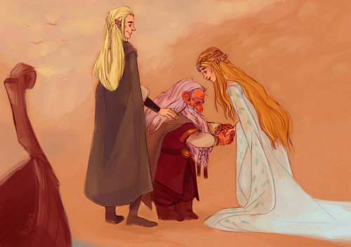 thats-so-ravenholm:  welcome gimli, son of glóin, to valinor (Click for high-res)