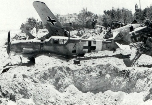 remove-before-flight:  Bf-109 graveyard, somewhere in the Med.