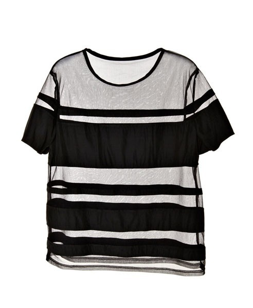 what-do-i-wear:  Semi-Sheer Stripe T-Shirt available from Chicnova