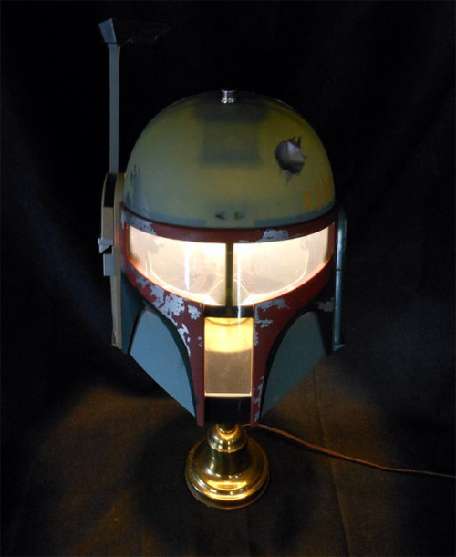 Major League Mods' DIY Boba Fett lamp  Easy and awesome for anyone's beside table. (via GeeksareSexy)