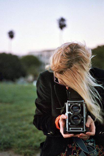 silents:  Astra With That Mamiya She Adores by J. Astra Brinkmann on Flickr.