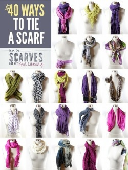 vividandeclectic:  *DIY / 50 Ways to Tie a Scarf sur We Heart It. http://weheartit.com/entry/58135499/via/manyways_1D