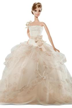 mybigfatbudgetwedding:  Budget Barbie wears Vera Wang