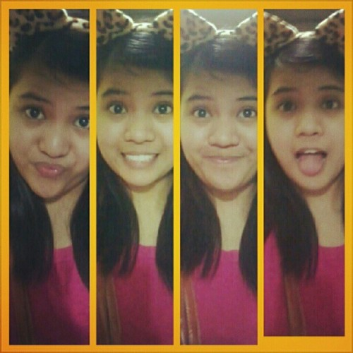 Cutest cat evaah. Loljk! —,v #ig #instacool #photogrid #me #cat #headband #animalprint