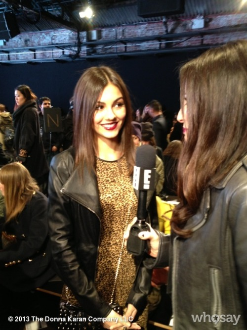 Victoria Justice in the house! #DKNYShowView more DKNY PR GIRL on WhoSay