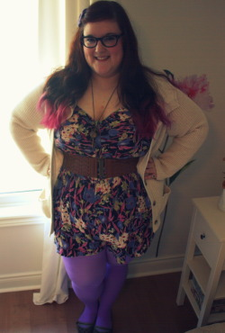 needlings:  Outfit of the Day Romper - Asos Tights - We Love Colours Sweater - Thrifted Guess