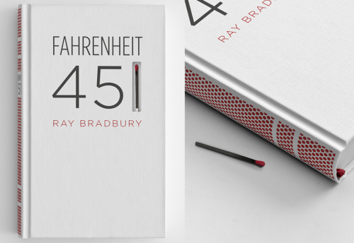 Neat idea and nice book cover: Fahrenheit 451 book design that can be set on fire - Imgur