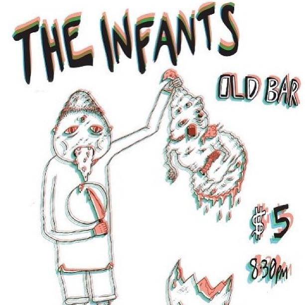 Playing with heaps of abed throughout march at old bar!  #theoldbar #theinfants