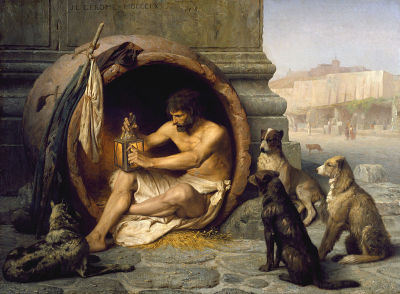 blastedheath:   Jean-Léon Gérôme (French, 1824-1904), Diogenes, 1860. Oil on canvas, 74.5 x 101 cm. Walters Art Museum, Baltimore, Maryland.