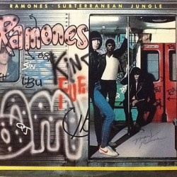Subterranean Jungle signed by Marky Ramone #theramones #markyramone #vinyl