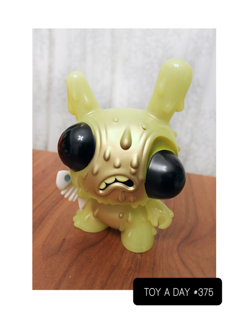 A TOY A DAY FROM MY COLLECTION Meltdown Dunny - Kidrobot In Store Exclusive  by Chris Ryniak