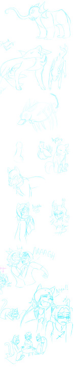 kaisylsart:  Here, have some old doodles, i mean REALLY old doodles. I don't remember drawing this lol