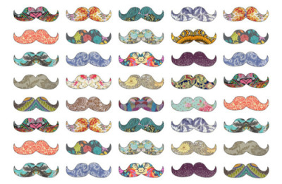 Colourful Mustache <3