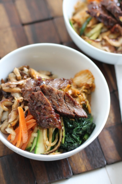 Korean beef rice bowl aka bibimbop