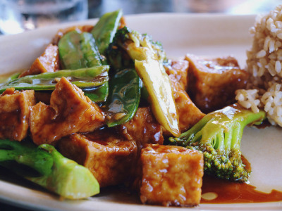 Vegan tofu & broccoli from Del Mar Rendezvous! by Krista June on Flickr.