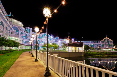 Disney's Beach Club Villas at Night by Tom.Bricker on Flickr.