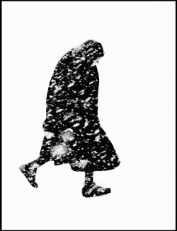"burnedshoes:  © Thomas Hoepker, 1954, Old woman in a snowstorm, Hamburg ""Well, I know now. I know a little more how much a simple thing like a snowfall can mean to a person."" (Sylvia Plath) » find more of Magnum Photos here «"