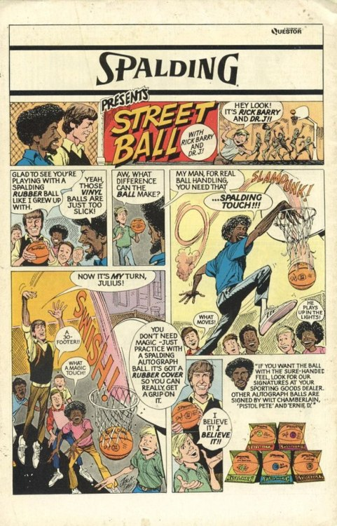 RTP:  Old school Spalding Comic featuring Dr. J & Rick Barry Please like my Facebook page, music coming soon in March