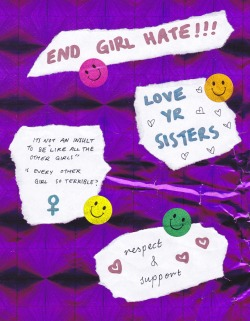 lacigreen:  girlsgetbusyzine:  END GIRL HATE!!!  I LOVE THIS