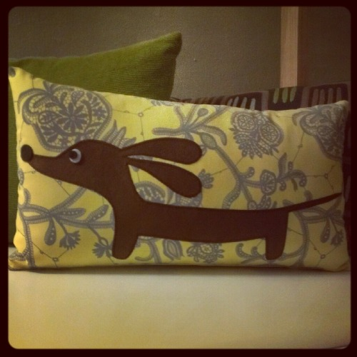 Doxie pillow from Etsy