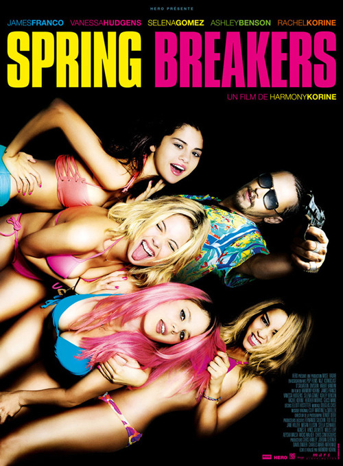 New French poster for Spring Breakers James Franco sports a pistol, shades, cornrows and an equally aggressive Hawaiian shirt on the new French poster for Harmony Korine's Spring Breakers…
