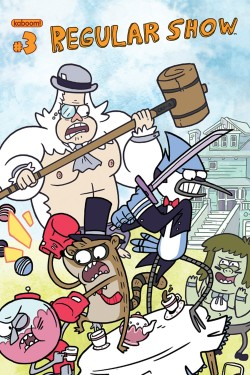 browsethestacks:  Comic - Regular Show #03 (Phil Jacobson Cover)  So I wasn't aware that the cover I drew for Regular Show was public yet, but hey, here it is! I'm re-blogging my own art… this feels weird guys. #gentlemanfight