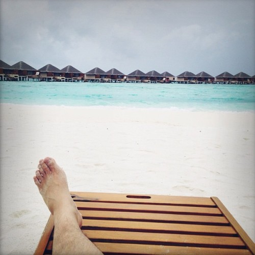 Lounging at Maldives 😁