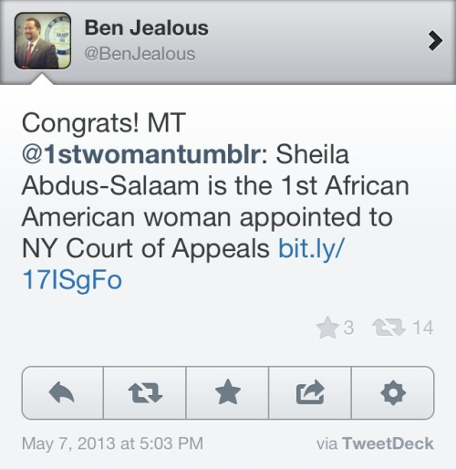 kaysteiger:  When Ben Jealous RTs you.