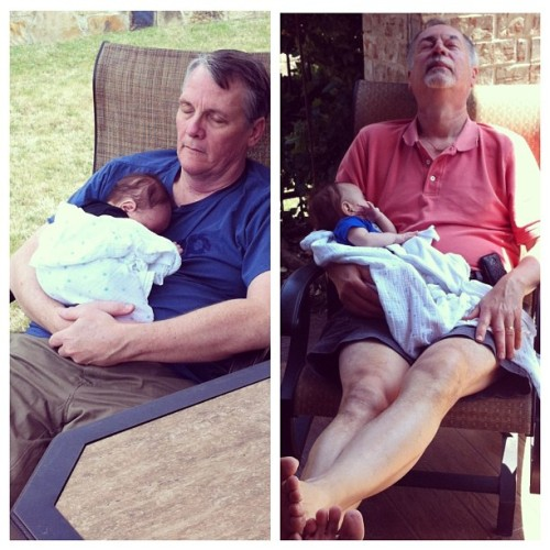 A boy and his Grandpas. I love everything about these pictures.