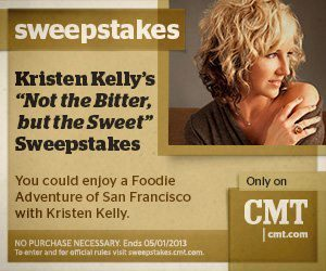 Who wants to go to San Francisco? CMT is giving away a trip for 2 to go on a Foodie Adventures tour of San Francisco with me! Enter here.