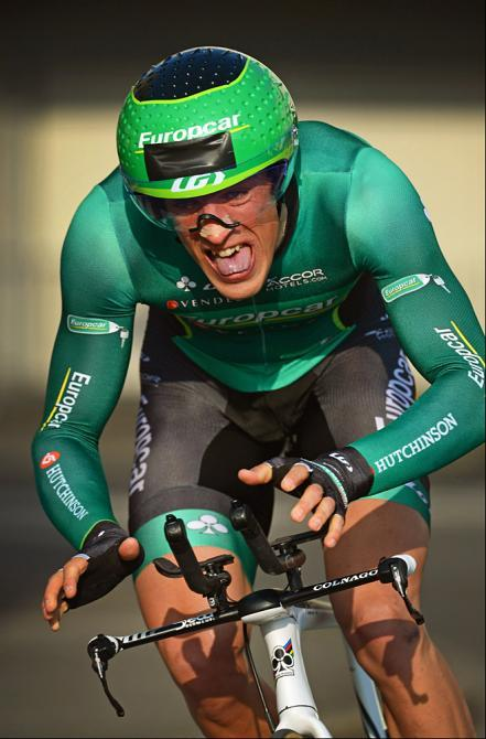 fuckyeahcycling:  Damien Gaudin (Europcar) rides to the win in the Paris-Nice prologue Photo: © Bettini Photo (via Paris - Nice 2013: Damien Gaudin (Europcar) Rides To The Win In The Paris-Nice…, Photos | Cyclingnews.com)  GHOST RIDE THE WHIP