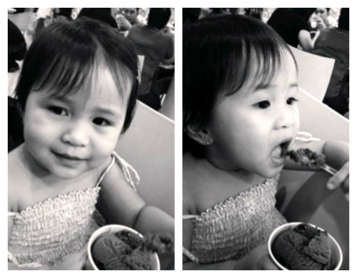 Beat the heat with a scoop of an ice cream! My 2 year old niece, Adi :)