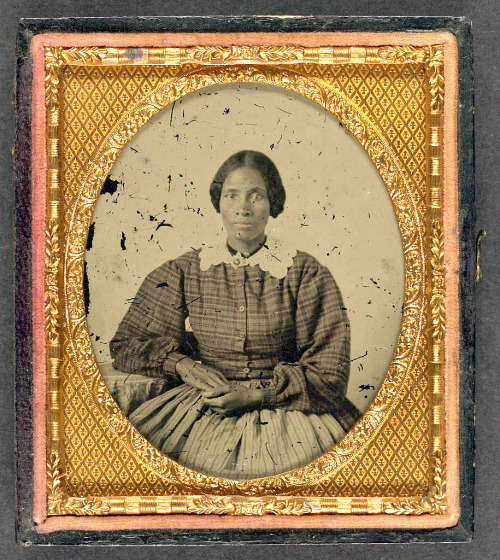 "thecivilwarparlor:  Unidentified African American Woman-African American women contributed significantly in the Civil War-Instances of Several Black Women Soldiers. While it is estimated that there were perhaps four hundred or so women soldiers in the Civil War, there are also instances of several black women soldiers. Lizzie Hoffman, reportedly enlisted in the 45th U.S. Colored Infantry. Martha Lewis is a black woman who disguised herself as a white man and served for eight months in the 8th New York Cavalry. Immediately following the war, Cathay Williams (aka ""William Cathay"") enlisted and served in the 38th U.S. Infantry ( a black regiment with white officers) for two years. Cathay was 5' 9"" tall, had black hair, a black complexion and black eyes, according to the description of her recruiting officer, who failed to notice that she was also a woman. She may have been the first black woman to serve in the U.S. Regular Army and as a Buffalo Soldier.  Read more here: http://www.examiner.com/article/african-american-women-contributed-significantly-the-civil-war  Photo from -Ambrotype/Tintype filing series (Library of Congress) (DLC) 2010650518 Liljenquist Family collection (Library of Congress) (DLC) 2010650519"