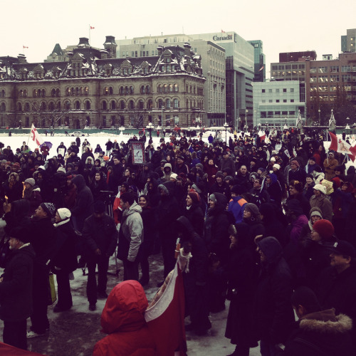 black-footed:  Idle No More - Parliament Hill