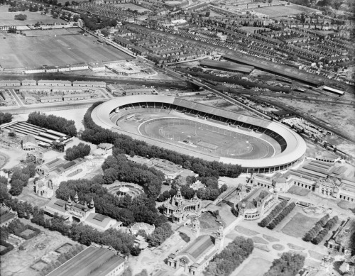 White City Stadium, Wood Lane, London - the world's first purpose-built Olympic stadium. Photo taken 1928.