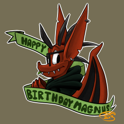 Happy Birthday Magnus! by ~divi HAPPY BIRTHDAAAAY AMANDA @weremagnus (Sorry if I am late ;o;)