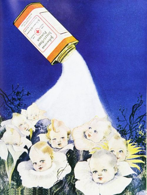 weirdvintage:  Johnson's Baby Powder ad, 1920s (via Vintage Ad Browser)