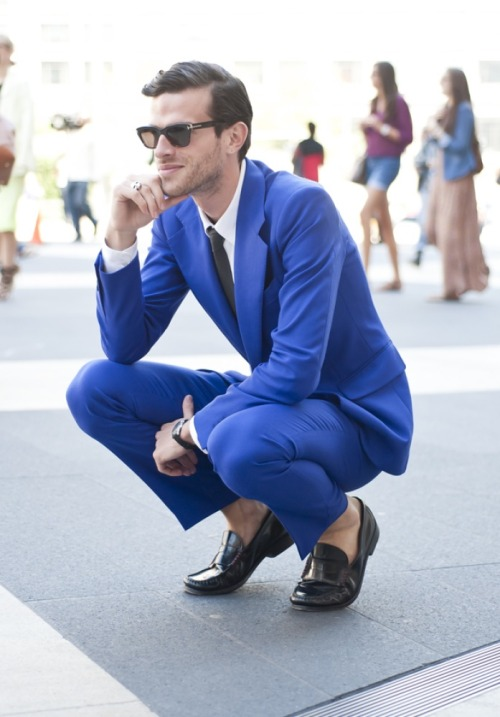 We love a blue suit, see?
