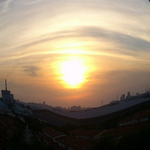 analienfromearth:  #sunset #fisheye (at Seri Nipah Apartment)