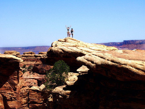 Corbin & Kristina on the Slickrock Trail at Canyonlands  Shot with my Olympus PEN E-PM1PEN#950