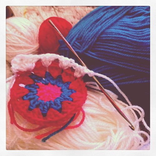 Crocheting day.